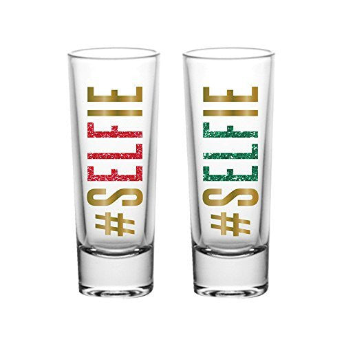 #Selfie Red and Green Shot Glasses (Set/2)