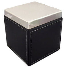 Black Leather Polish Silver Box