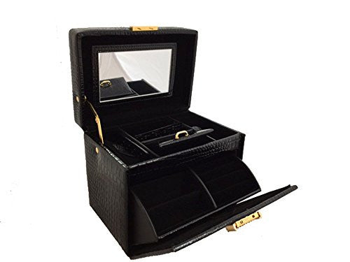 Black Travel Jewelry Box