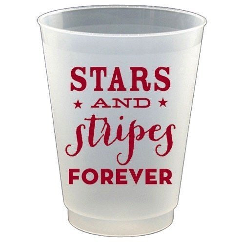 Stars and Stripes Plastic Flex Cups