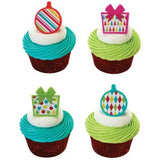 Presents and Ornaments Cupcake Toppers (36 ct)