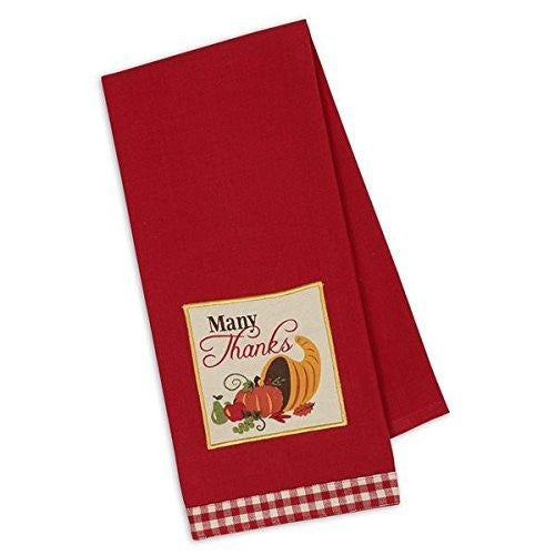 Embroidered Give Thanks Dish Towel