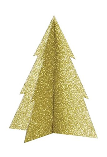 Gold Glitter Christmas Tree Centerpiece