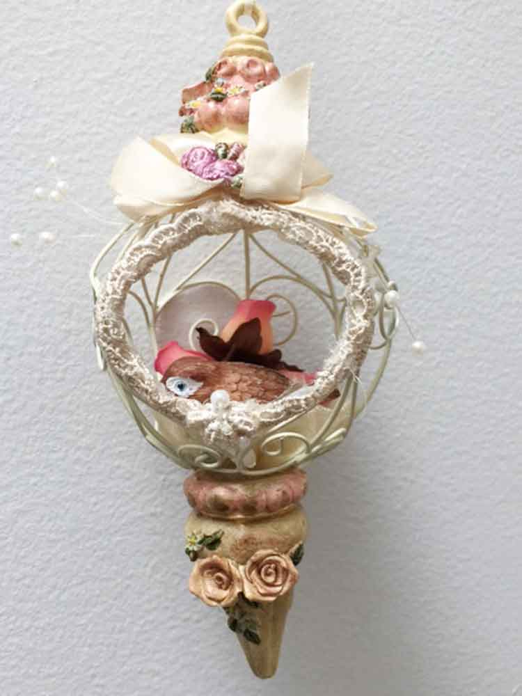 Bird Cage Hanging Ornament