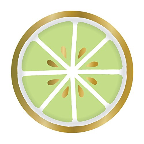 Slant Collection Lime Design Paper Tableware