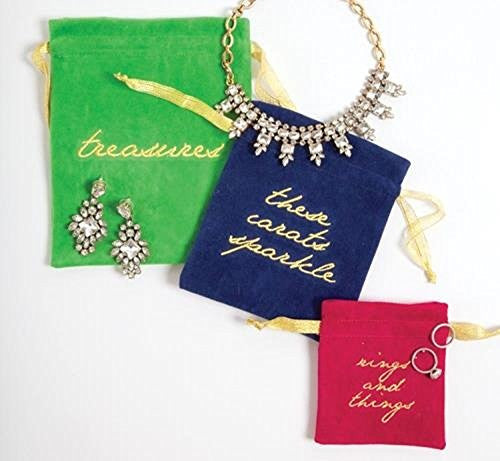 3-Piece Velvet Jewelry Pouches