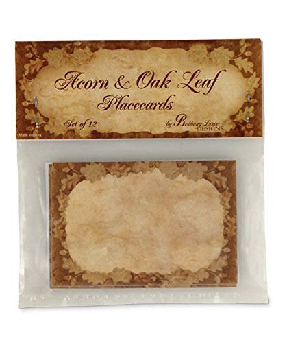 BETHANY LOWE Thanksgiving Acorn and Oak Leaf Print Placecards