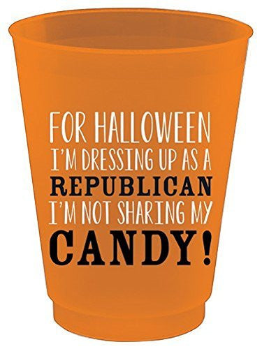 Slant Collections Halloween Republican Plastic 16 oz Cups