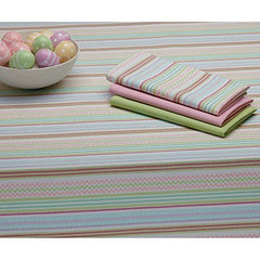 Pastel Colors Zigzag Stripe Cotton Tablecloth