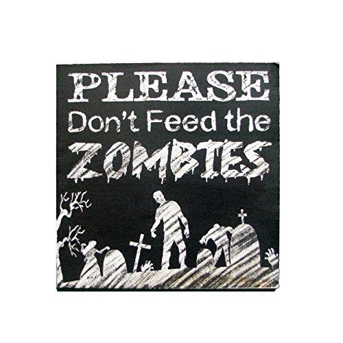 Wooden Zombie Sign