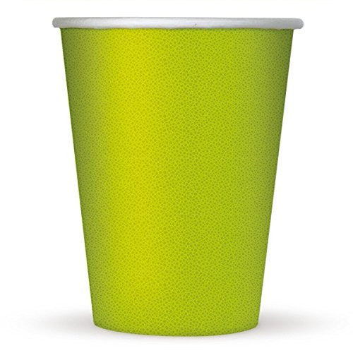 Lime Green Paper Cups - 8 ct.