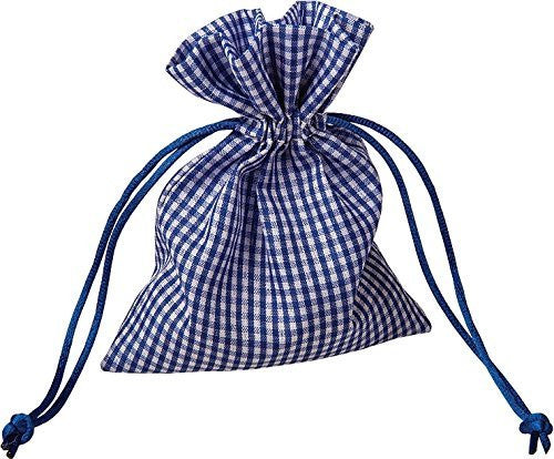 Navy Blue Gingham Favor Bag (1 dz)