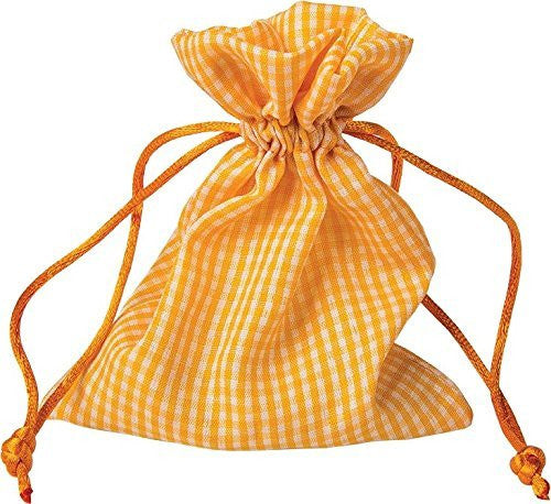 Orange Gingham Favor Bags (1 Dozen)