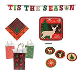 Cozy Christmas Tis the Season Tartan Design Party Pack