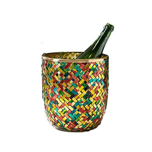 Colorful Mosaic Ice Bucket