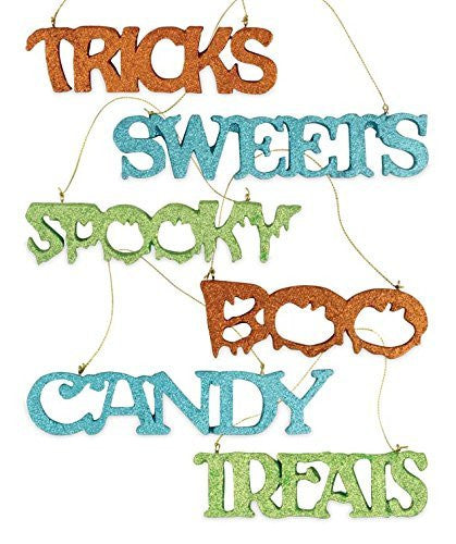 Bethany Lowe Halloween Sweet Treats Wood Glitter Decorative Signs