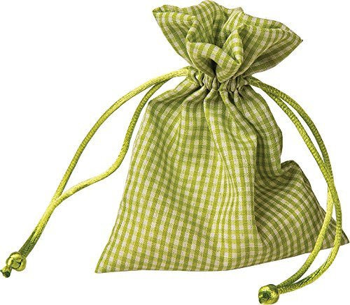 Light Green Gingham Favor Bags (1 Dozen)