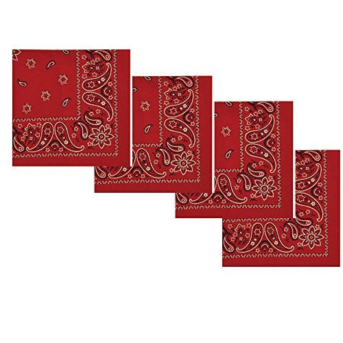 Red Bandana Napkins (Set/4)