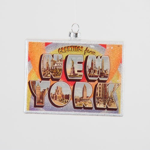 Glitterville New York State Ornament