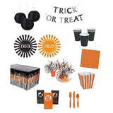 Halloween Orange Black Trick Treat 164 pieces Party Pack