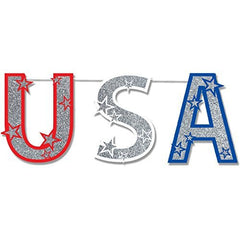 Glitter USA Garland - 12 ct