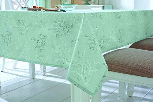Seychelles Coral Design Aqua Tablecloth