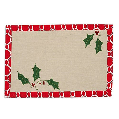 Design Imports Holly Jolly Printed Reversible Placemats (set/4)