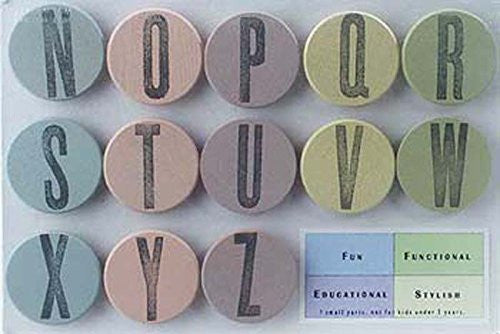 Tree by Kerri Lee Alphabet Letters Pastel Wooden Magnets (Set/26)