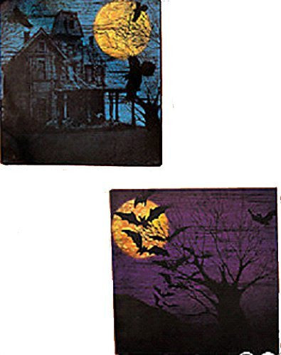 Halloween Silhouette Wall Prints - Set of 2