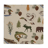 Lake Theme and Fishing Cloth Napkins (Set/4)