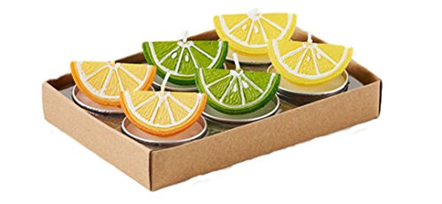 One Hundred 80 Degrees Orange Lime Lemon Tealights (Set/6)