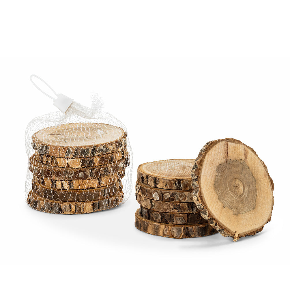 Natural Bark Coasters Set of 6