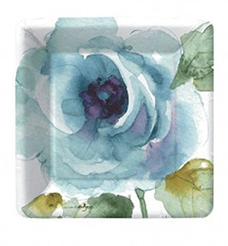 Rainbow Seeds Blue Flower Dessert Paper Plates