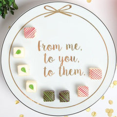 "8 Oak Lane ""From Me to You to Them"" Giving Cake Stand"