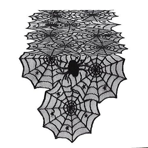 "Spider Web Lace 72"" Table Runner"