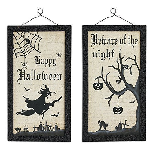 Design Imports Halloween Wooden Signs