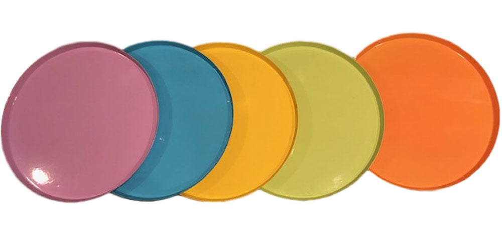Design Ideas Color Steel Serving Trays Set of 5