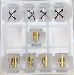 Skull and Bones Tic-Tac-Toe Shot Glass Game