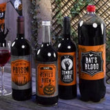 Neviti Graveyard Gathering Halloween Bottle Labels