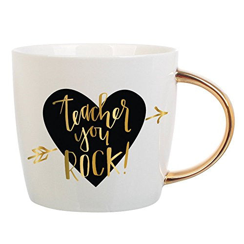 Slant Teacher You Rock Mug