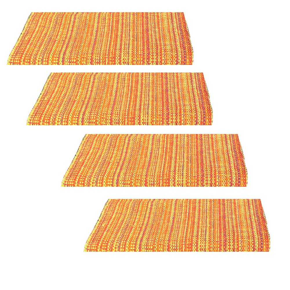 Split P Fiesta Orange Weave Placemats Set of 4