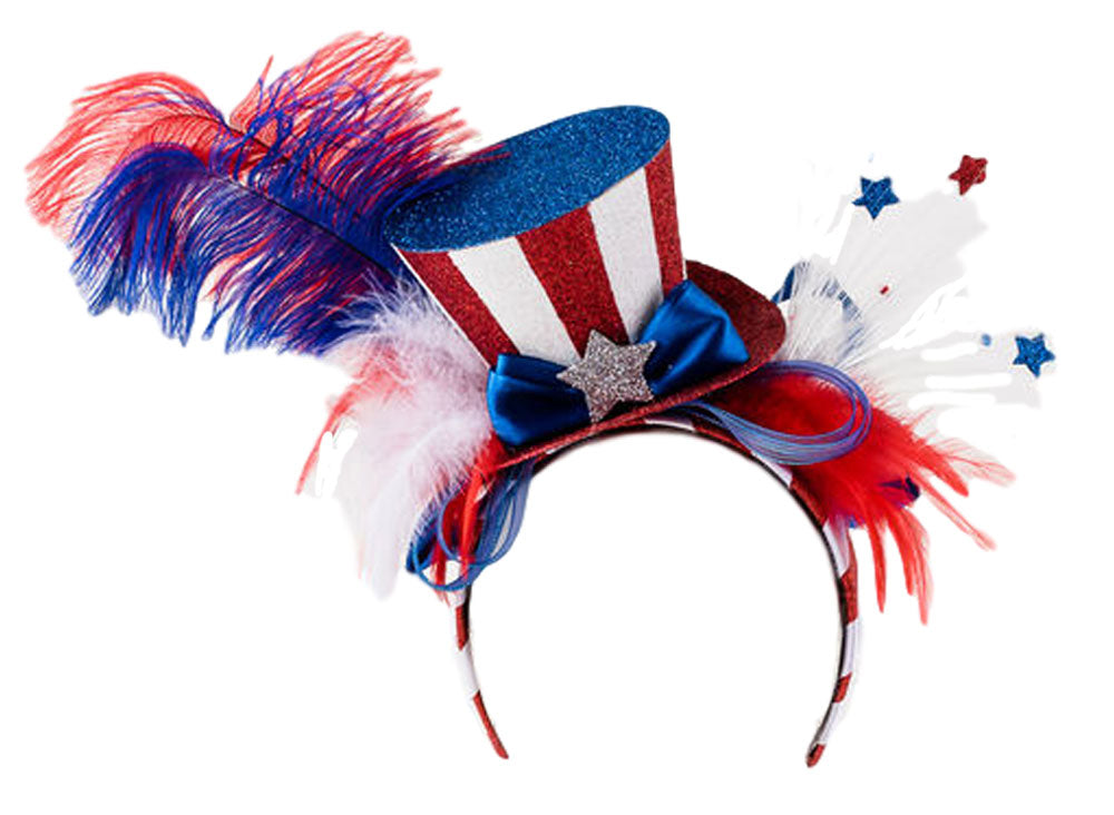 One Hundred 80 Degrees Red White Blue Patriotic Headband