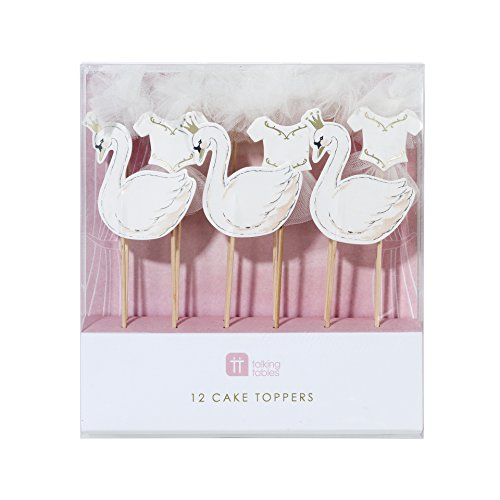 Swan Cake Toppers (12 ct)