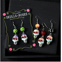 Skull and Roses Earrings