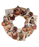 Bethany Lowe Thanksgiving Children Die-Cut Wooden Wreath