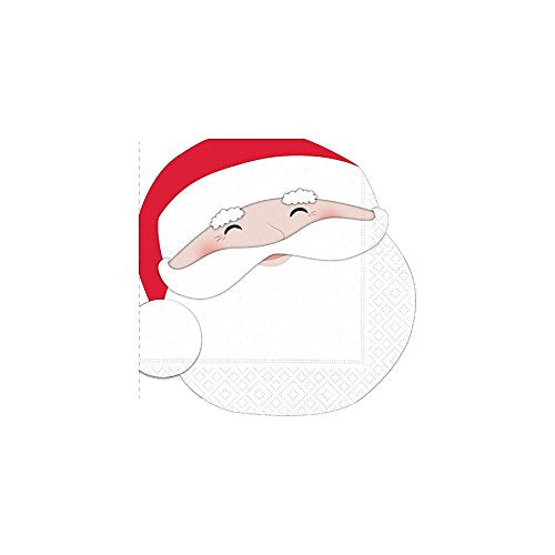 Merry Santa Cut-Out Paper Beverage Napkins