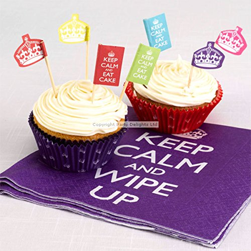 Keep Calm and Party On Cupcake Picks
