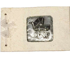 Fitzcardlo Tin Baby Carriage Medallion Handmade Journal