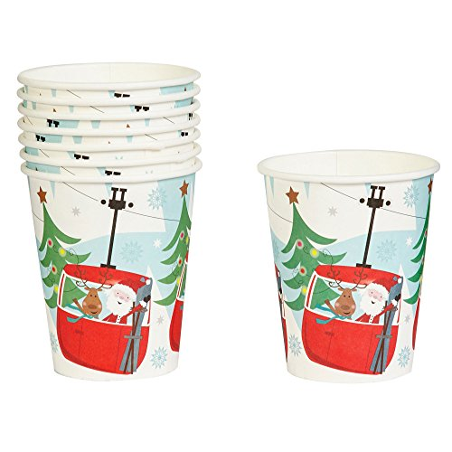 """Festive Fun"" Santa and Reindeer  Tram Paper Cups"