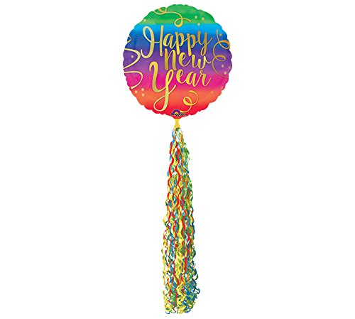 "New Year's Eve Colorful 32"" XL Mybar Balloon"